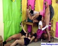 Pissing Fancy Dress Group Sex Babes