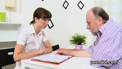 Ideal college girl gets seduced and nailed by elderly teacher
