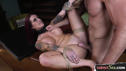 Tattooed Milf Slave Pussylicked And Fucked