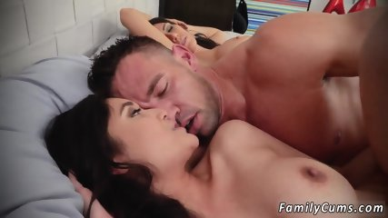 Sissy daddy and milf playmate crony s daughters Family Shares A Bed