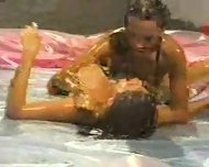 Oil Wrestling Match - scene 10