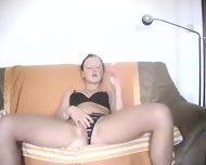 Hot german Girl playing with 2 Dildos - scene 2