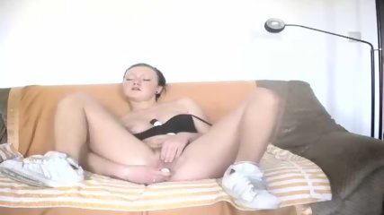 Hot german Girl playing with 2 Dildos - scene 7