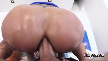 Exquisite doll showcases big booty and gets butt hole pounded