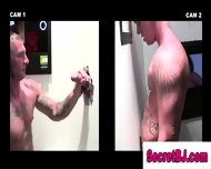 Hidden Gay At Gloryhole Sucks Straight Cock
