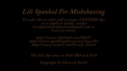Clip 17Lil Lili Spanked for Misbehaving MAIN