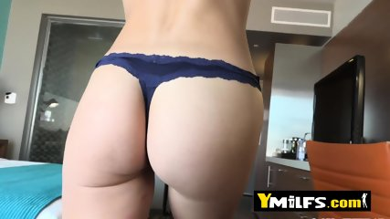 Hot and horny mommy decides to get naked in a hotel room just to enjoy for a while a big tuff cock.