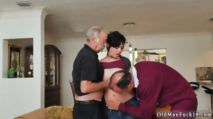 Old granny spreading More 200 years of schlong for this sexy brunette!