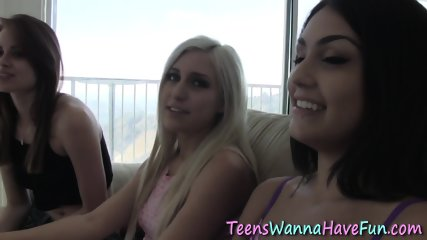 Lesbian teens eat out and finger in sixtynine