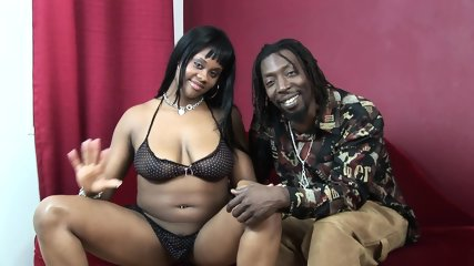 Fatty ebony swallows after rough sex