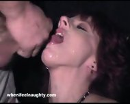 Peggy Bundy swallows Load of many Guys - scene 9