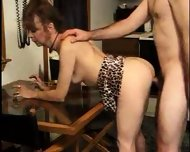 Mature Lady licks Sperm from Table 2 - scene 1