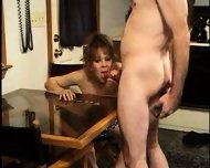 Mature Lady licks Sperm from Table 2 - scene 4