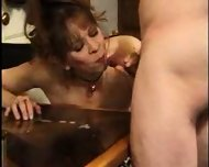 Mature Lady licks Sperm from Table 2 - scene 5
