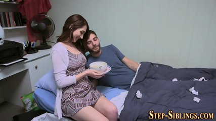 Stepsister teen deep throats