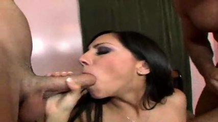 Lela Star deepthroats two Dicks