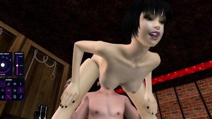 [Gameplay] 3D toon big dick black dude fucking blonde chick