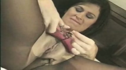 Pantyhose & Pussy Shave & Action - scene 5