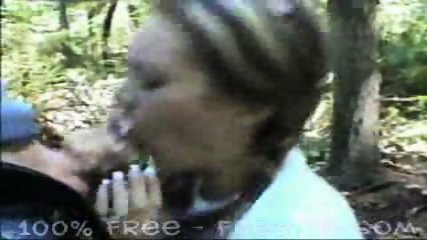 Pigtail Girl gives Blowjob in the Forest - scene 9