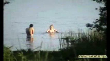 Couple captured having Sex in Lake - scene 1