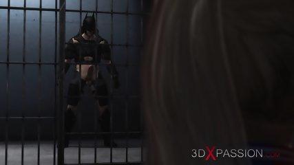 Batman fucks hard Harley Quinn in jail