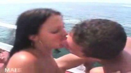 Brazilians celebrating Orgy on Boat - scene 1