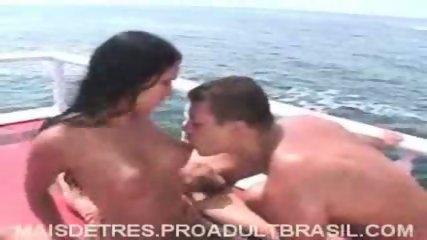 Brazilians celebrating Orgy on Boat - scene 5