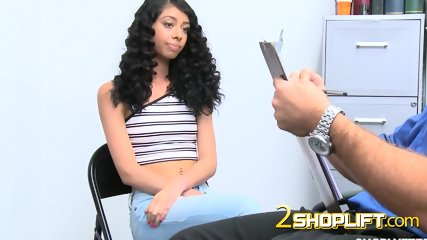 Shoplifter teen is learning a lesson on how to behave properly!