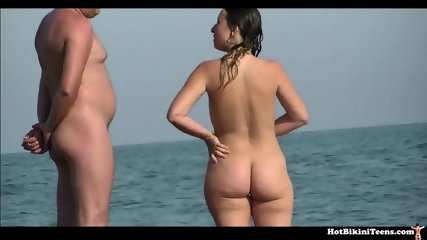 Nice Round Asses Girls Getting Tanned At Nude Beach - scene 5