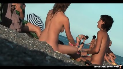 Gorgeous Nude Teens Spy Cam Beach Voyeur - scene 11