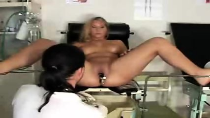 Blonde gets examined on Gyno-Chair - scene 8