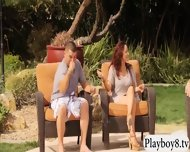 Sultry Swingers Having Fun By The Pool With Nasty Dudes