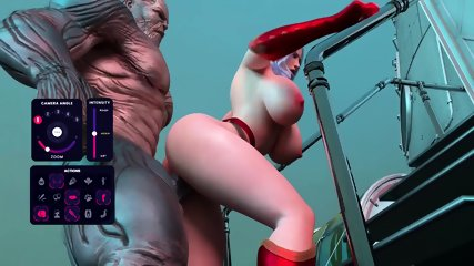 3D Redhead Getting Fucked by an Alien Monster