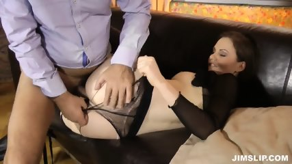 Lady With Torn Pantyhose Gets Fucked And Licked - scene 11