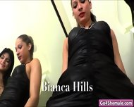 Shemales Beatricy Velmont And Bianca Hills Suck Each Other Off