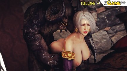 3D Elf Girl Destroyed by Dragons! [GamePlay]