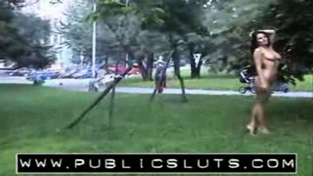 PublicSluts - Park posing