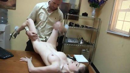 Skinny Babe Banged On Desk - scene 7