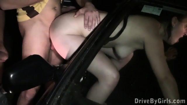 Slut Gets Banged In The Car