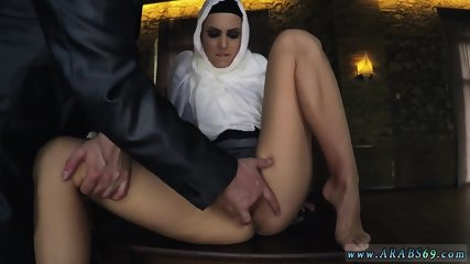 Arab and tissues arabic Hungry Woman Gets Food and Fuck