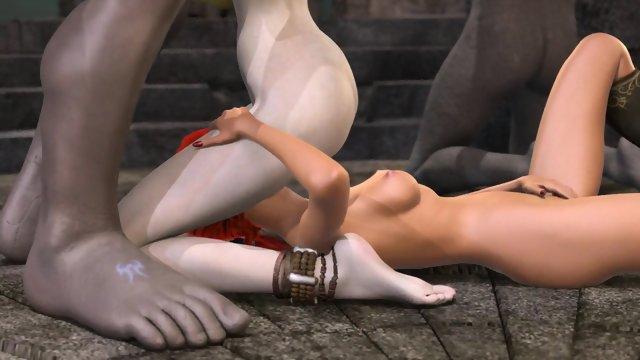 Huge boobs demon fuck