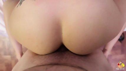 Warm Cum On Brunette's Face - scene 7