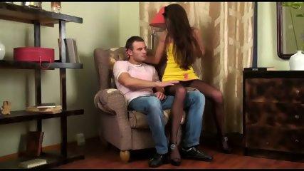 Cum On Torn Pantyhose - scene 1