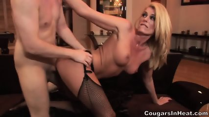 Hot Action With Horny Blonde With Stockings