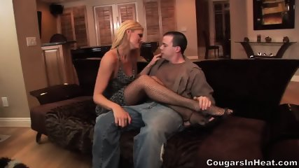 Hot Action With Horny Blonde With Stockings - scene 3