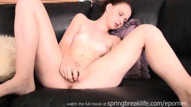 Girl Masturbates And Sucks Dildo