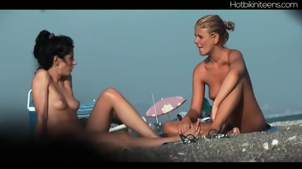 Shaved Pussy Nudist Milfs At Beach - scene 10