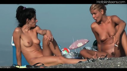 Shaved Pussy Nudist Milfs At Beach - scene 11