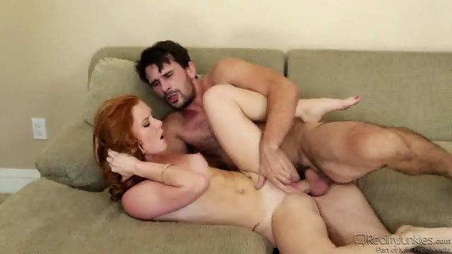 Redhead Teen Gets Fucked On Sofa