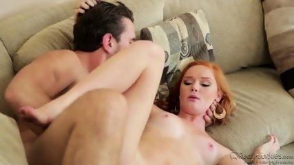 Redhead Teen Gets Fucked On Sofa - scene 5